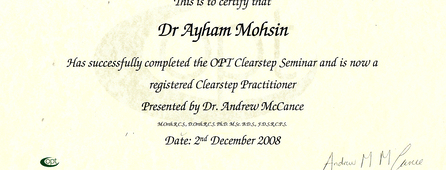 OPT Clearstep Seminar
